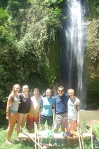 Part of the crew at Las Musas waterfall